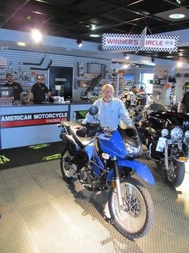 Ron and his 2009 Kawasaki KLR 650