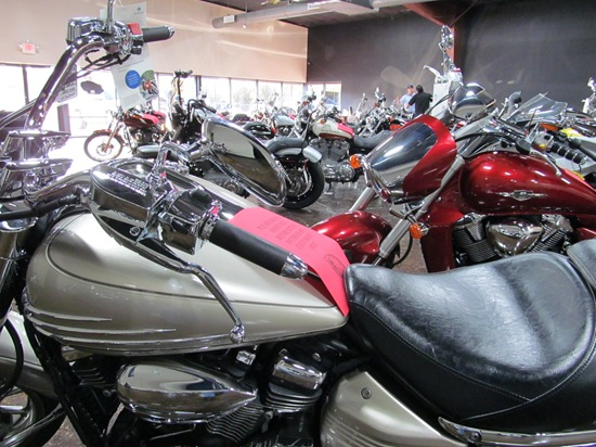 Texas Best Used Motorcycles showroom - Click to visit our website.