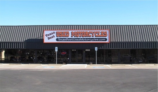 Texas Best Used Motorcycles storefront - Click to visit our website.