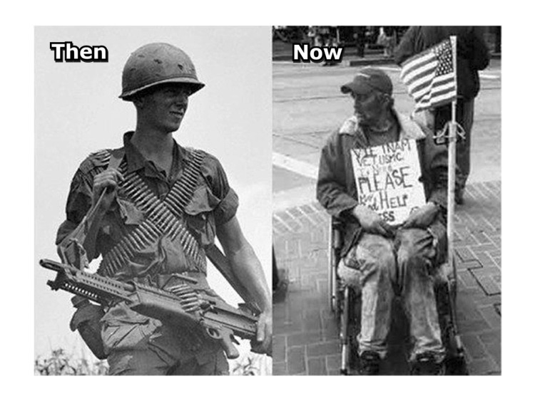Veteran then-now