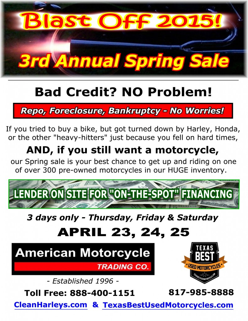 3rd Annual Spring Sale